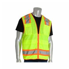 Hi-Vis Yellow Eight Pocket Surveyors Tech Vest