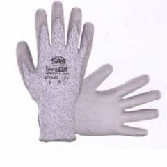 Safe Cut HPPE Knit Glove, PU Palm