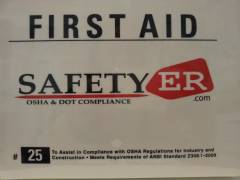 #25 Contractor First Aid Kit Plastic