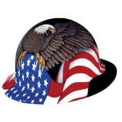 8-POINT FULL BRIM SPIRIT OF AMERICA HARD HAT