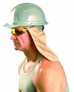 H.H. SWEATBAND W/ NECK SHADE - Khaki