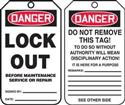 Danger Lock Out Tag - 5 pk
