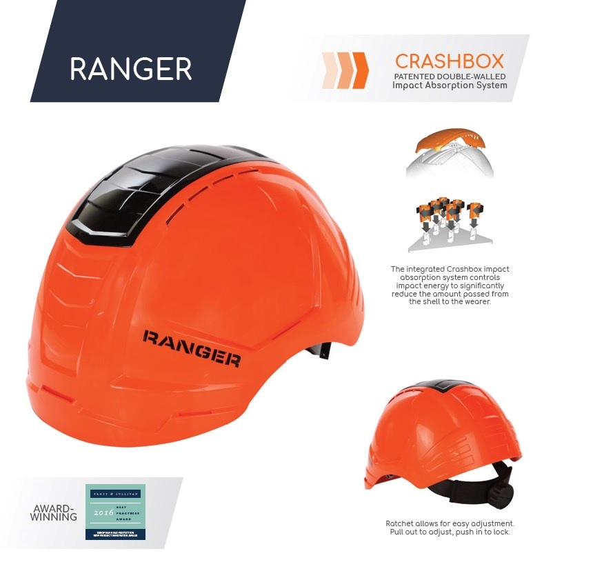 Ranger PRO Helmet w/ CRASH BOX Orange