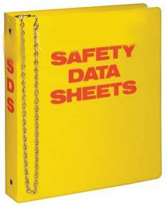 "3"" YELLOW SDS BINDER WITH CHAIN"