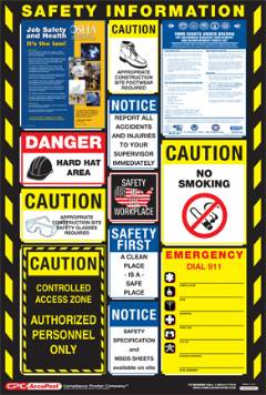 CONSTRUCTION SAFETY INFO POSTER