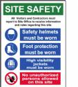 Site Safety Corrugated Sign 18X24""
