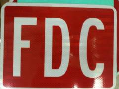 FDC SIGN RED ON WH