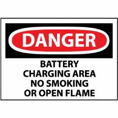 DANGER Battery Area No Smoking Or Open Flame