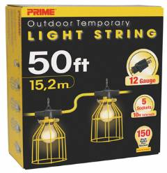 U-Ground Light String w/ Metal Cages 50FT