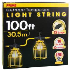 U-Ground Light String w/ Metal Cages 100FT