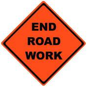 DELUXE END ROAD WORK ROLL-UP SIGN / VINYL POCKETS