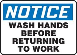 Notice Wash Hands - Vinyl Sign
